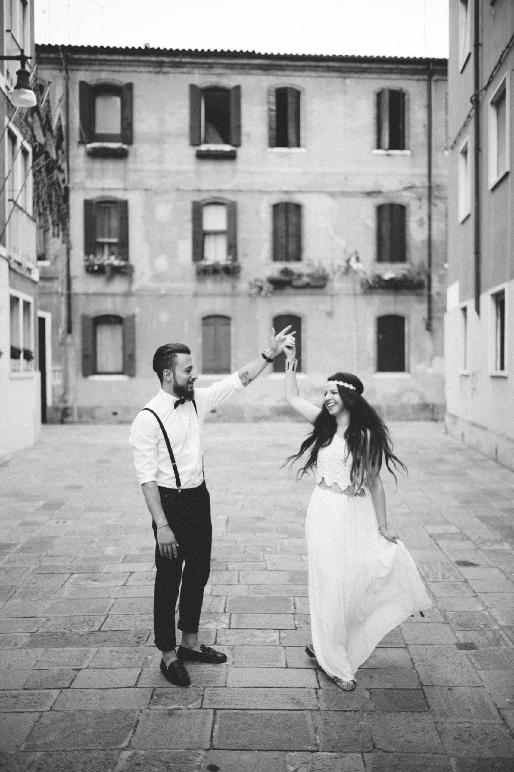 Arzu & Ferkan in den Straßen von Venedig