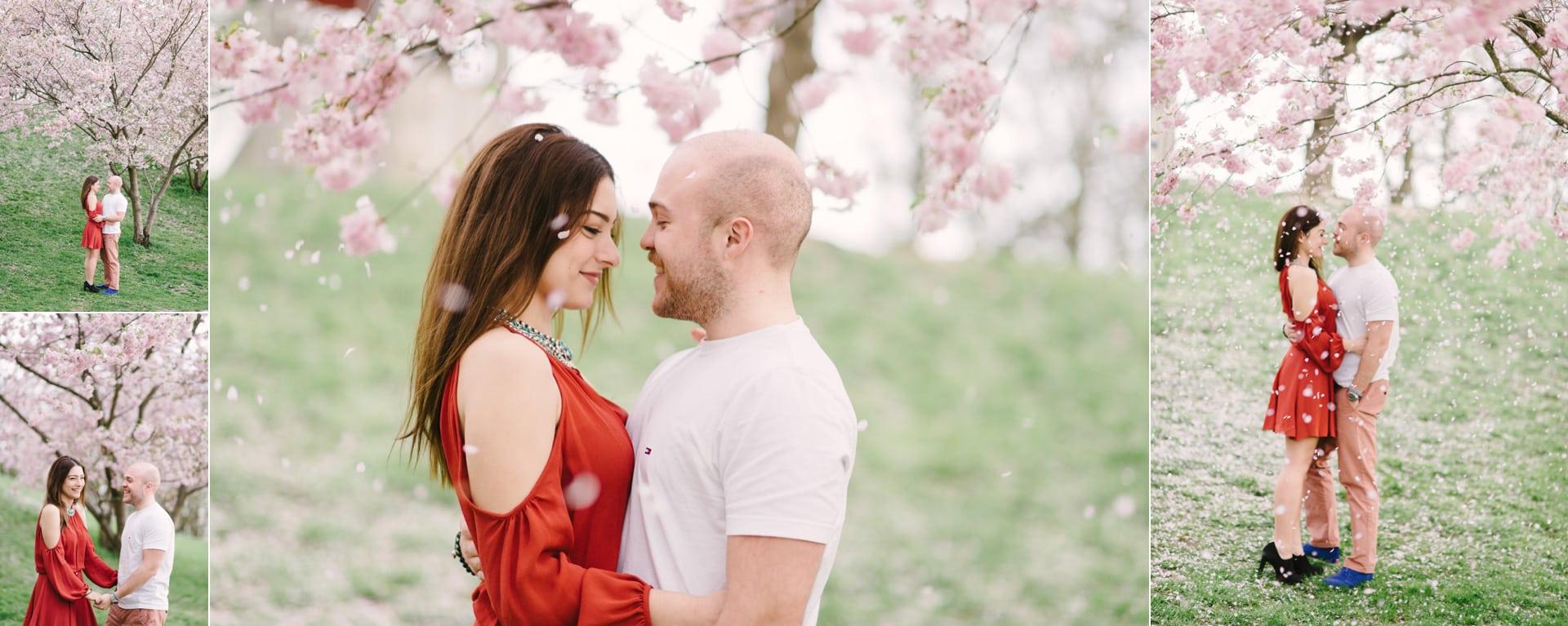Kirschblütenshooting mit Hochzeitsfotograf Kamer Aktas aus München für die besten Fotolocations in München für Hochzeitspaare