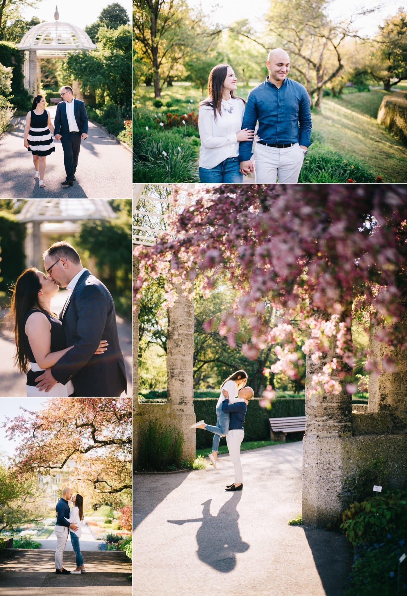 Paare im Botanischen Garten mit Kamer Aktas Hochzeitsfotograf