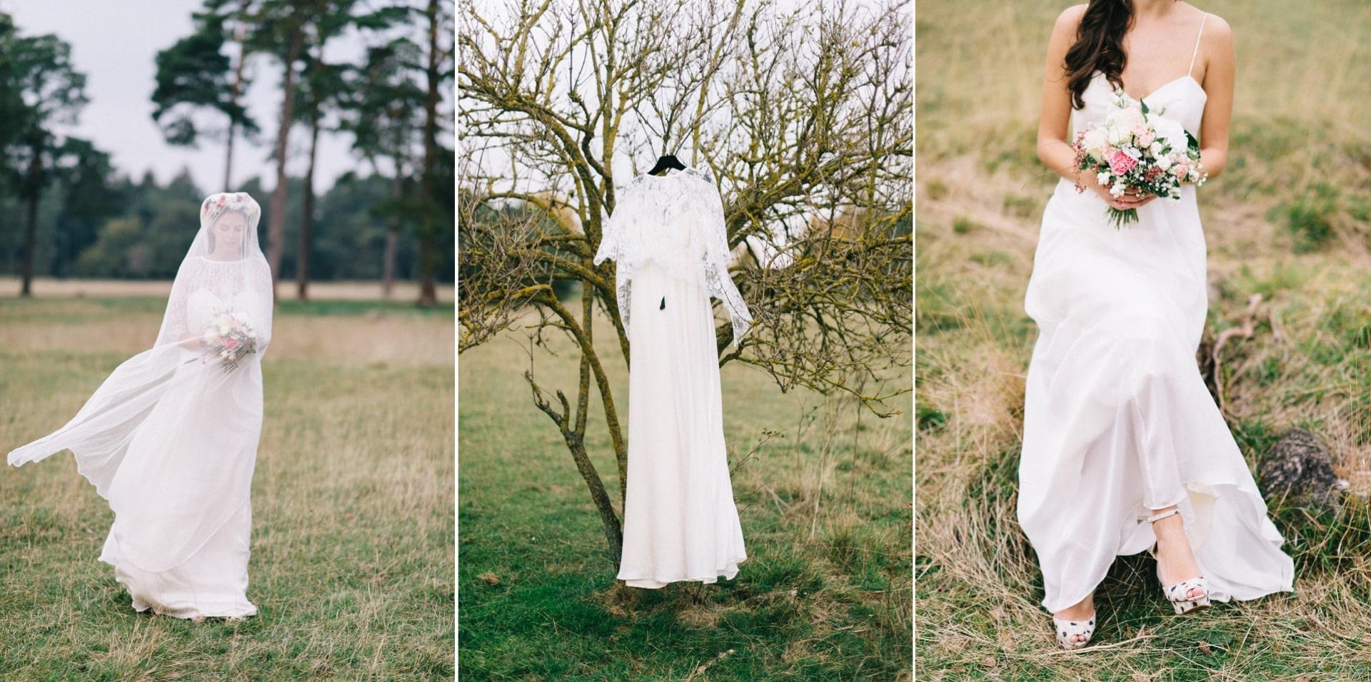 Brautkleid von Elfenkleid - Shooting auf der Panzerwiese München
