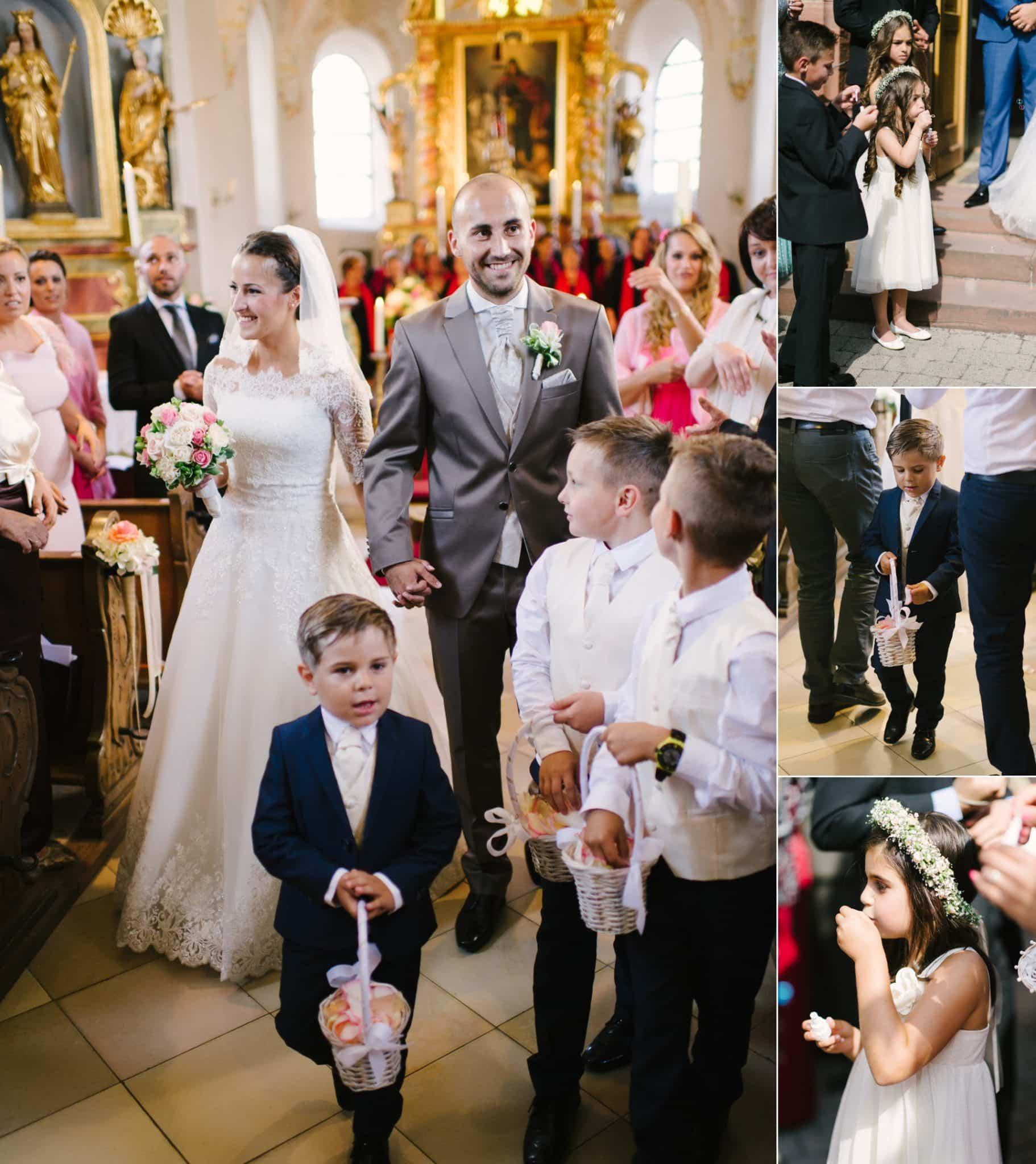 Den Kindern auf der Hochzeit Aufgaben verteilen, sie freuen sich über diese Verantwortung